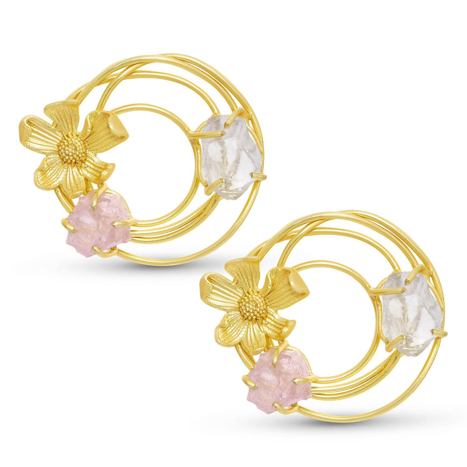 Sukkhi Glitzy Gold Plated Floral Stud Earring For Women-SUKKHI1-Earring