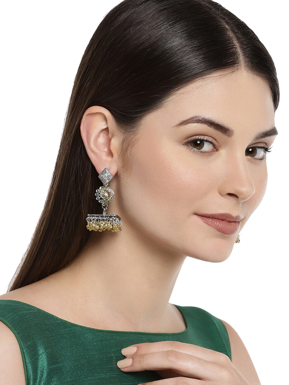 Zaveri Pearls Two Tone Jhumki Earring