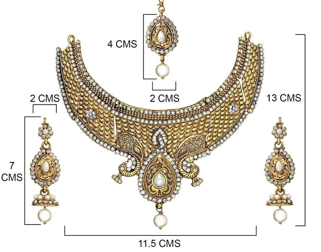 Zaveri Pearls Jodha Necklace Set