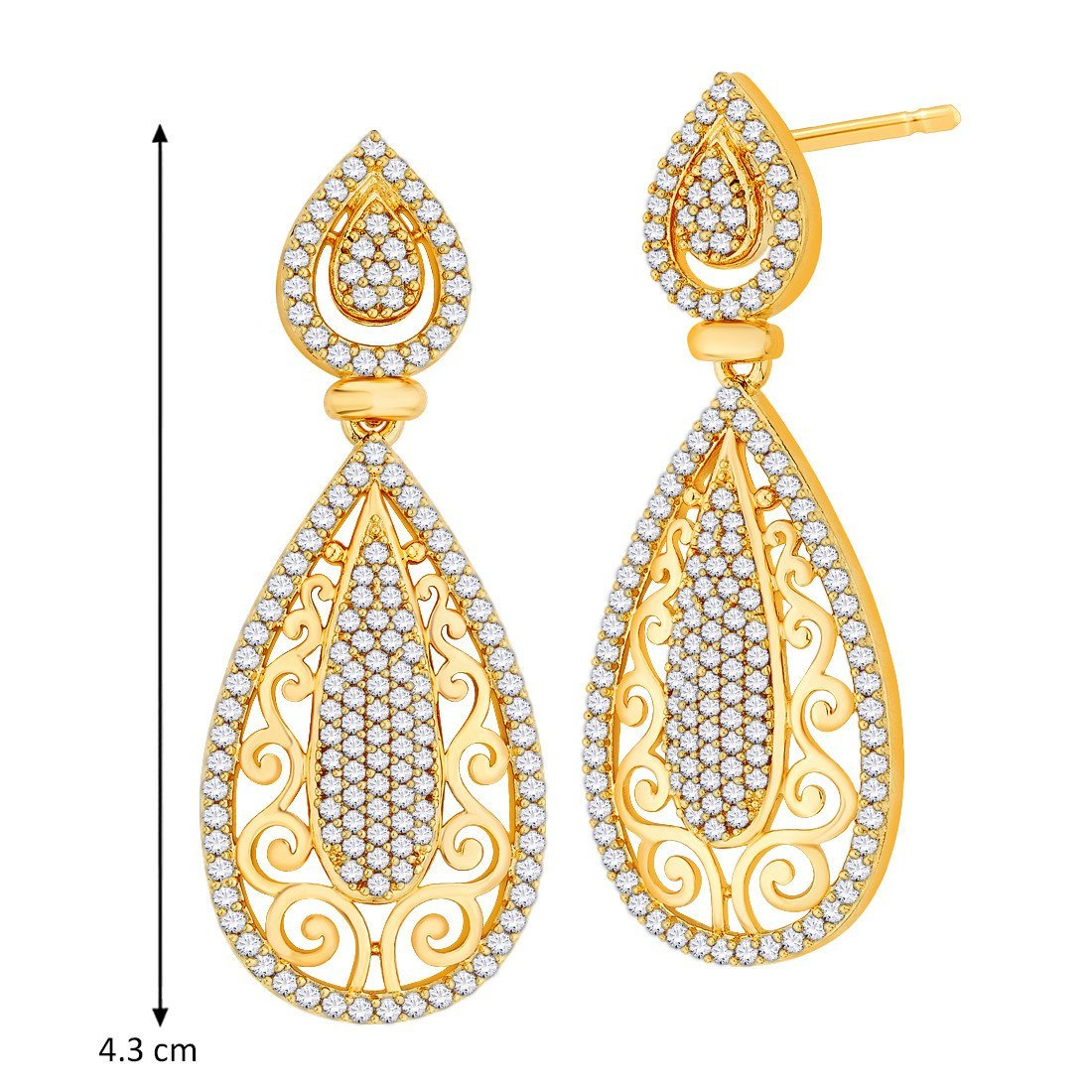 Shiering Filigree Earrings