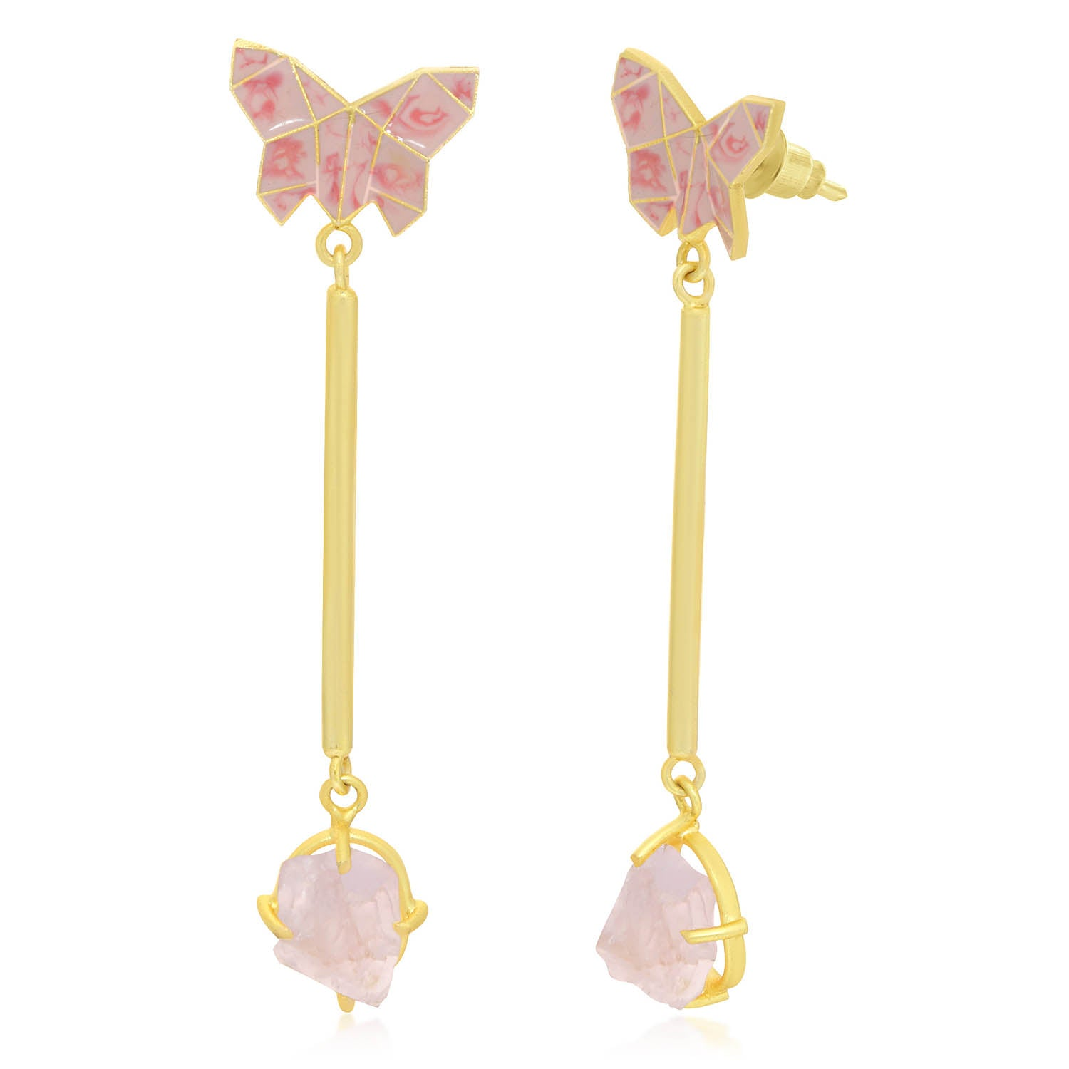Sukkhi Classy Gold Plated Butterfly Dangle Earring For Women-SUKKHI1-Earring