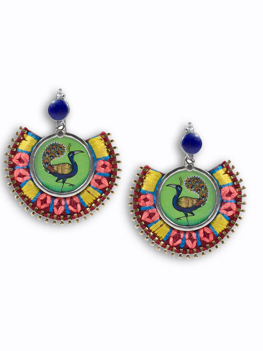 Dancing Peacock Madness Design Dangler Earring