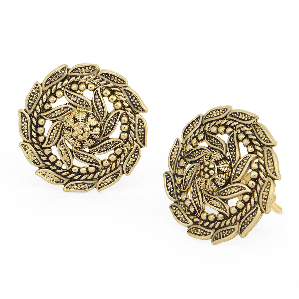 Sukkhi Ritzzy Gold Plated Floral Stud Earring For Women-SUKKHI1-Earring