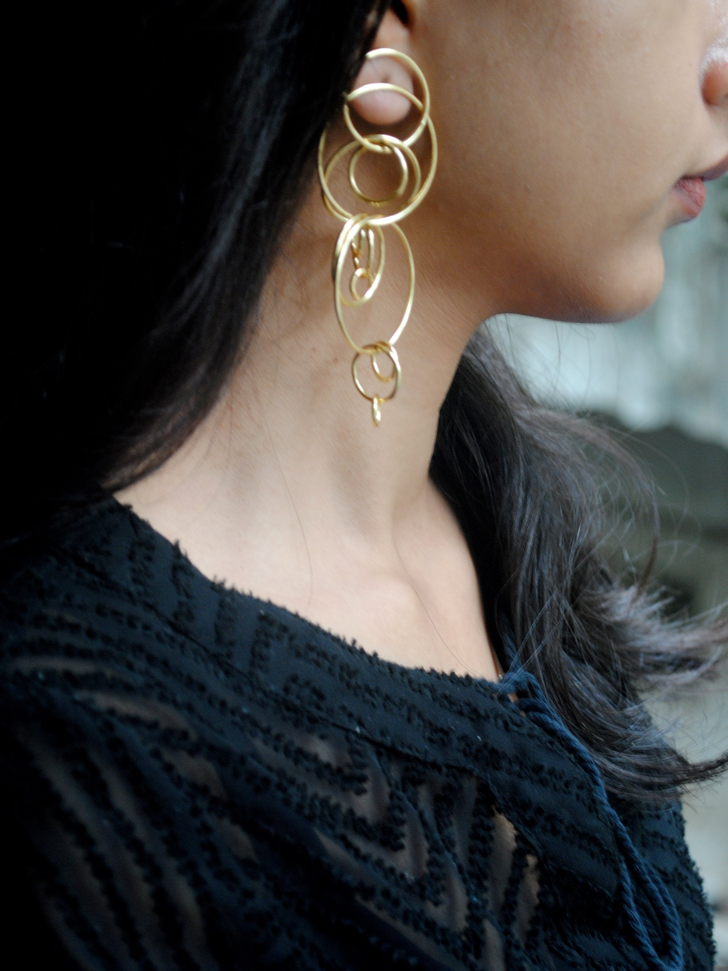 Circle Jumble Earrings