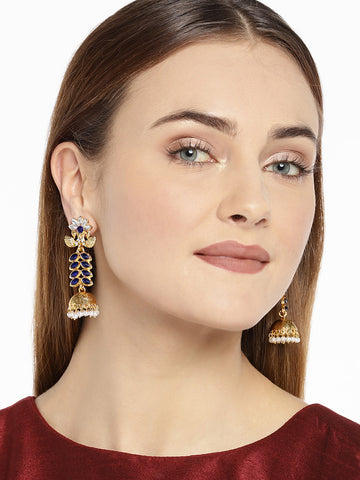 Combo Of 2 Zaveri Pearls Kundan And Pearl Jhumki Earring