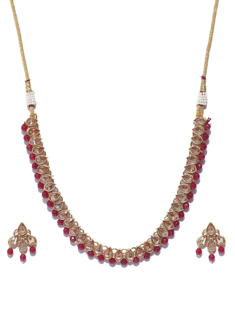 Pretty High Quality Choker Necklace Set-ARADHYAA JEWEL ARTS1-Necklace Set