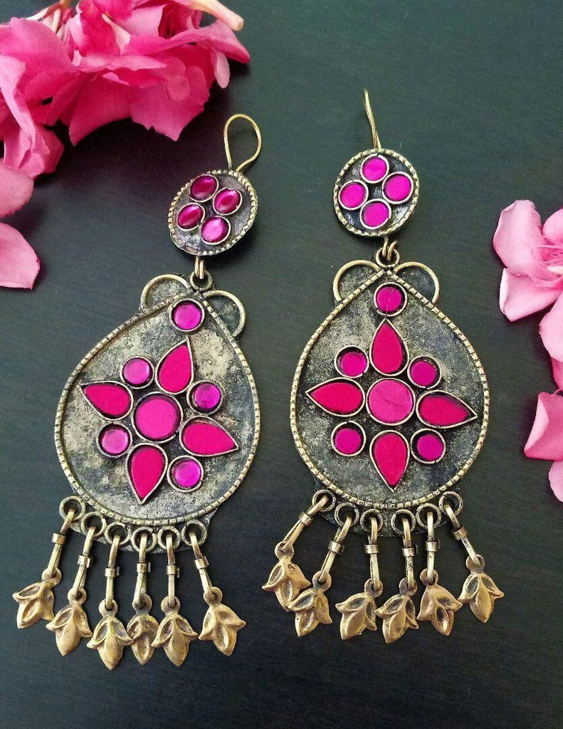 Afghani Trible Pink Color Earring