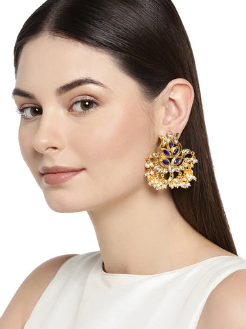 Combo Of 2 Zaveri Pearls Kundan And Pearl Dangle Earring