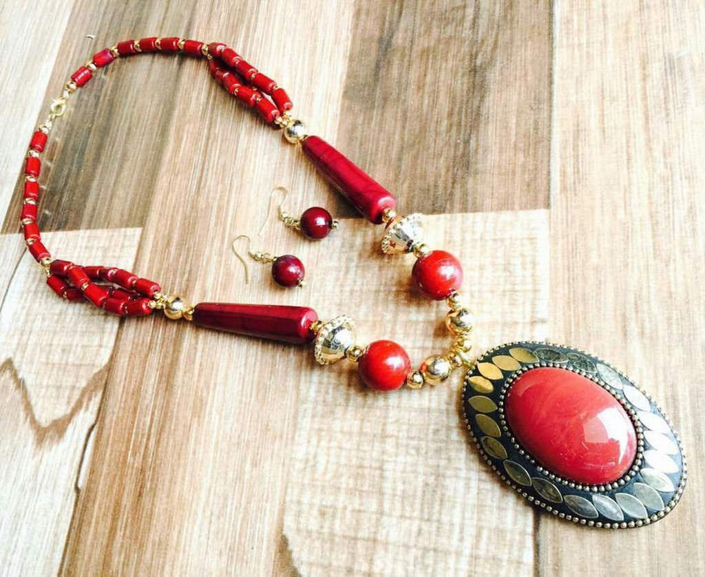 Afghani Trible Red Necklace Set