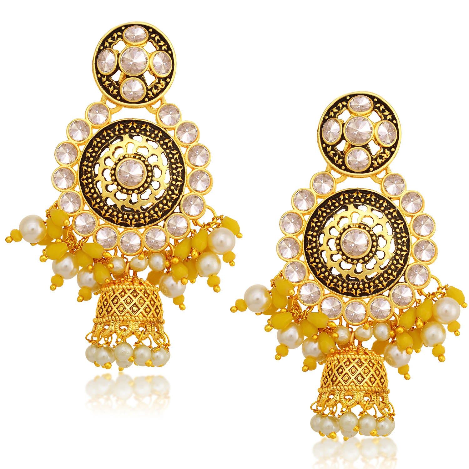 Sukkhi Stunning Gold Plated Pearl Jhumki Earring For Women-SUKKHI1-Earring