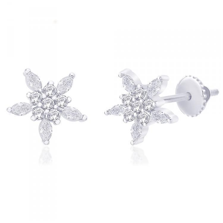 Sharp Floral Studs For Party Wear