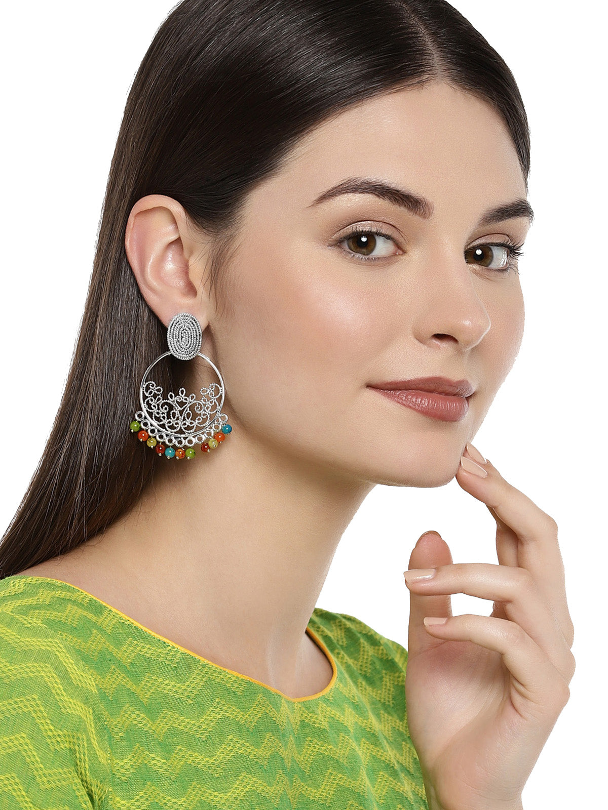 Combo Of 2 Zaveri Pearls Multi Color Dangle And Drop Earring