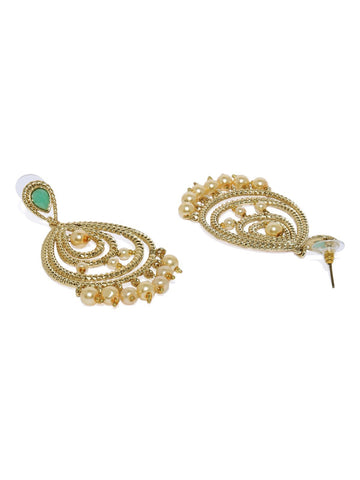 Combo Of 3 Gold Tone Traditional Dangler And Drop Earrings
