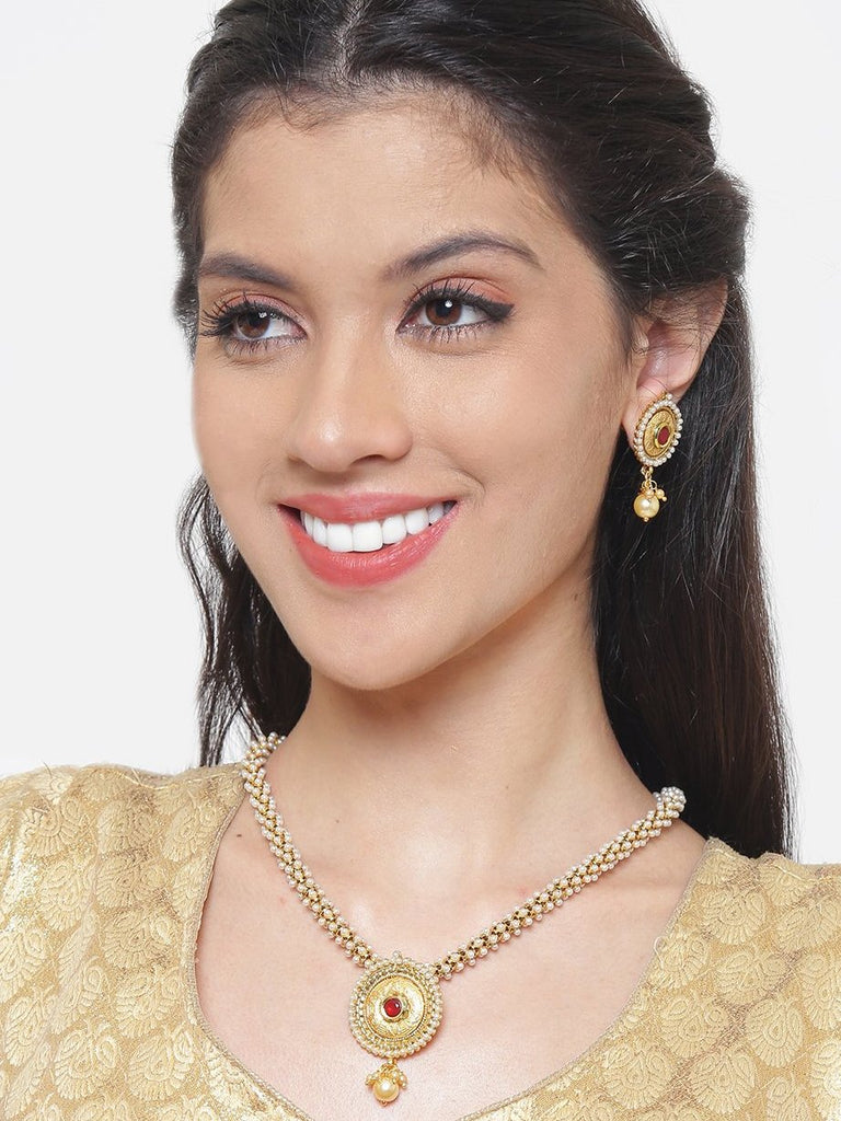 Pretty High Quality Medium Necklace Set-ARADHYAA JEWEL ARTS1-Necklace Set