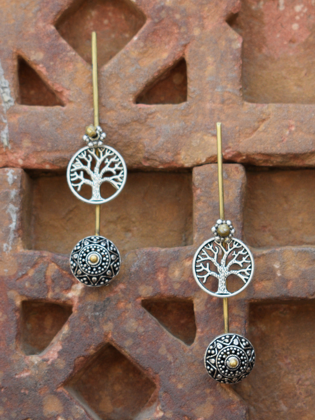 Tree Of Life Dangler Earring-ANETRA1-Earring