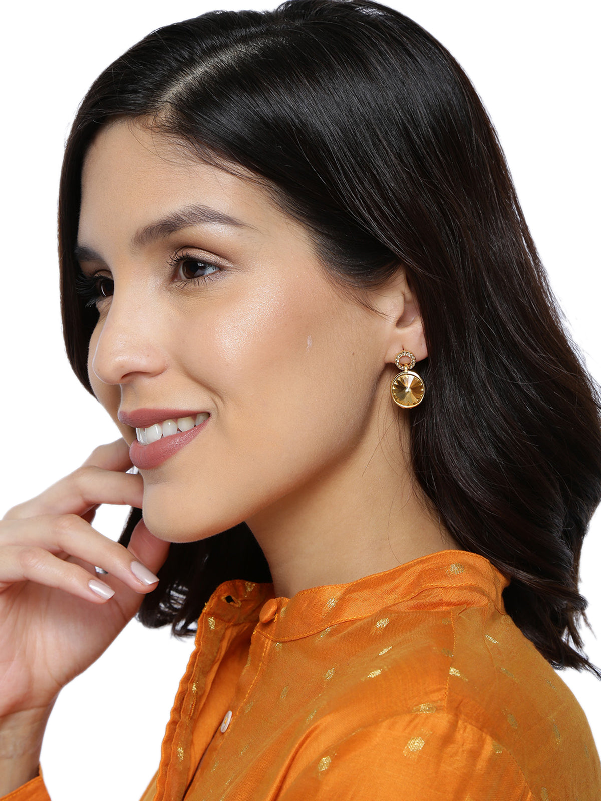 Zaveri Pearls Combo Of 3 Gold Tone Contemporary Style Stud Earring-ZAVERI PEARLS-Combo