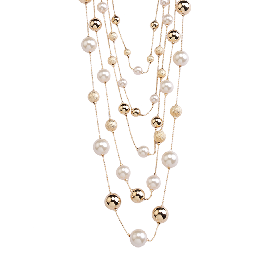 Golden Orbs Necklace