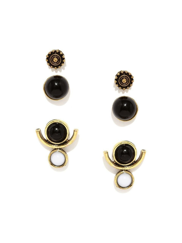 Crescent Earring Set