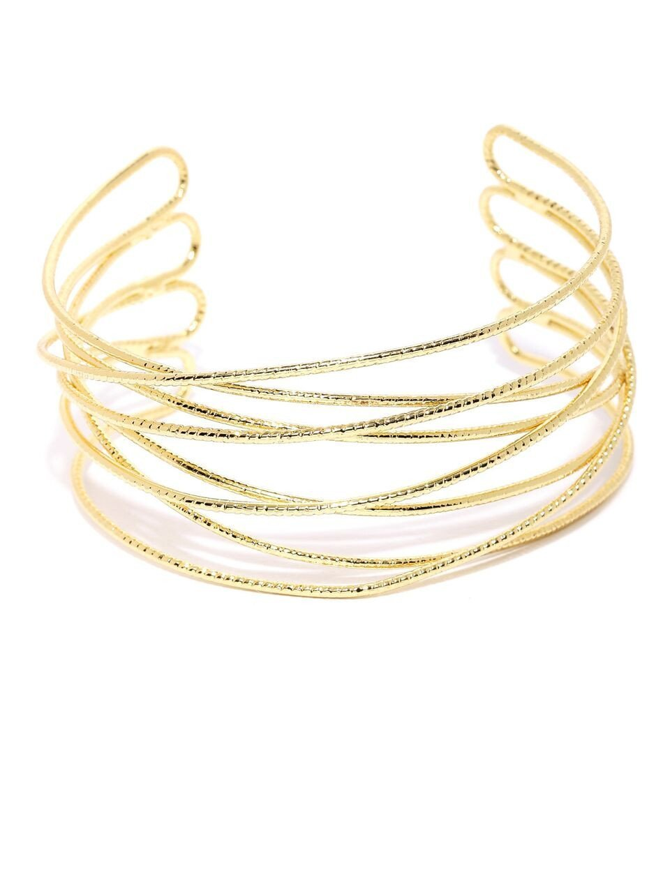 Gold Crosswired Cuff