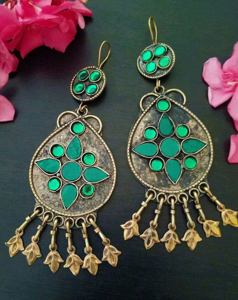 Afghani Trible Light Green Color Earring