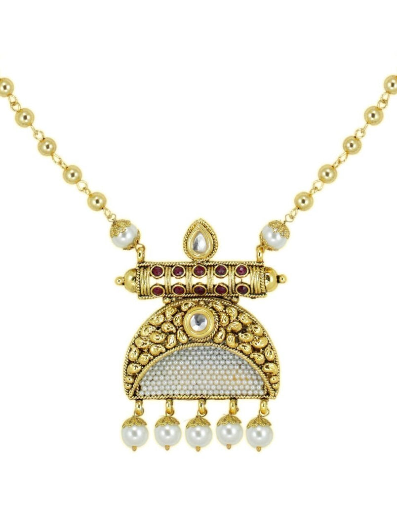 Stylish Kundan & Pearl Necklace Set