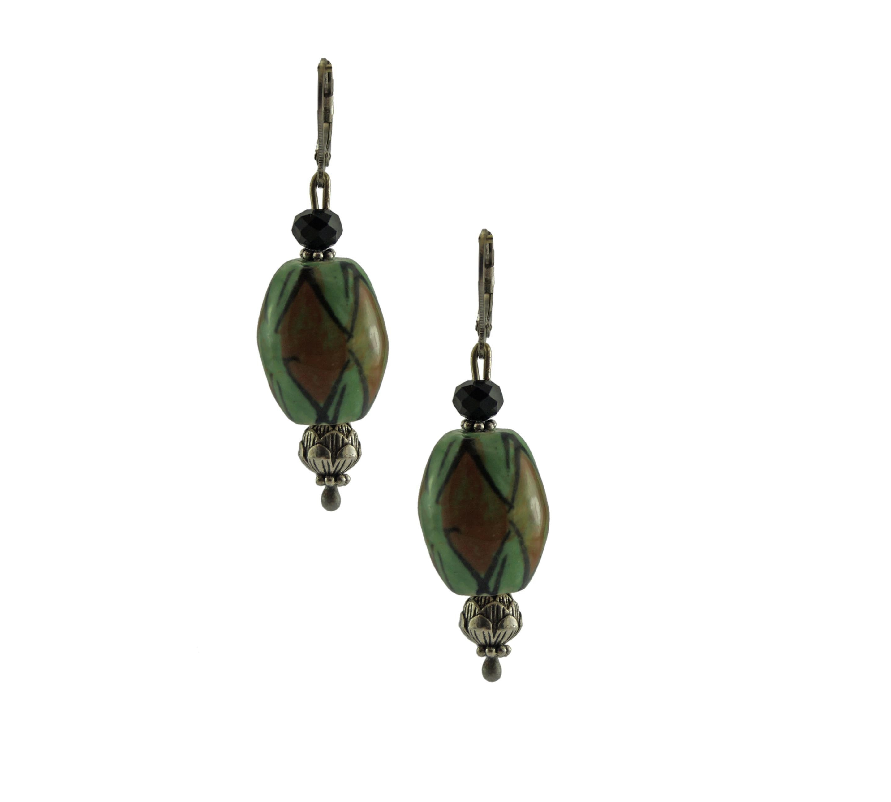 Green Red Porcelain Dangler