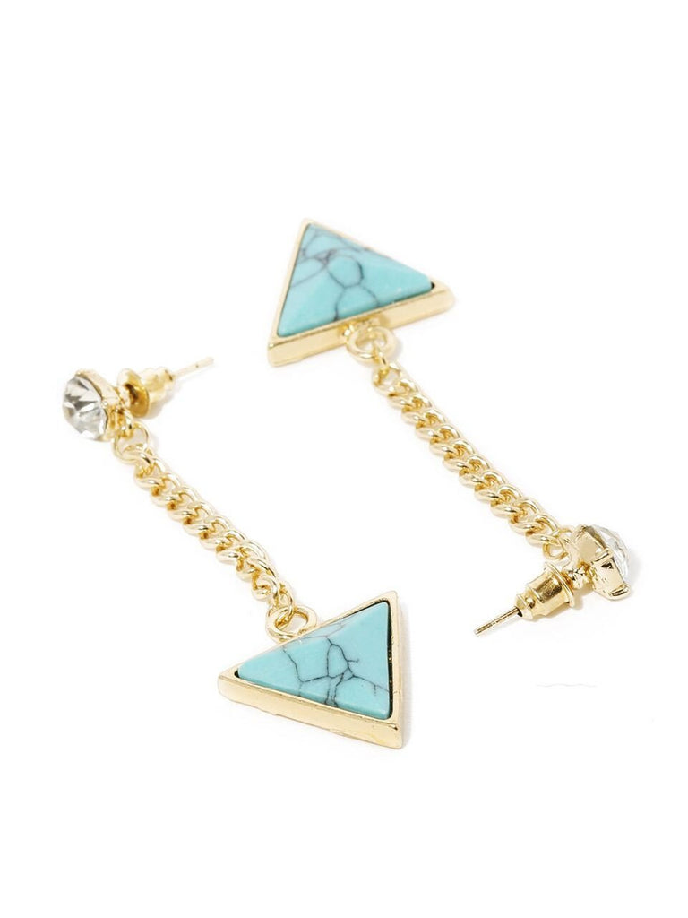 Turquoise Arrow Drop Earring