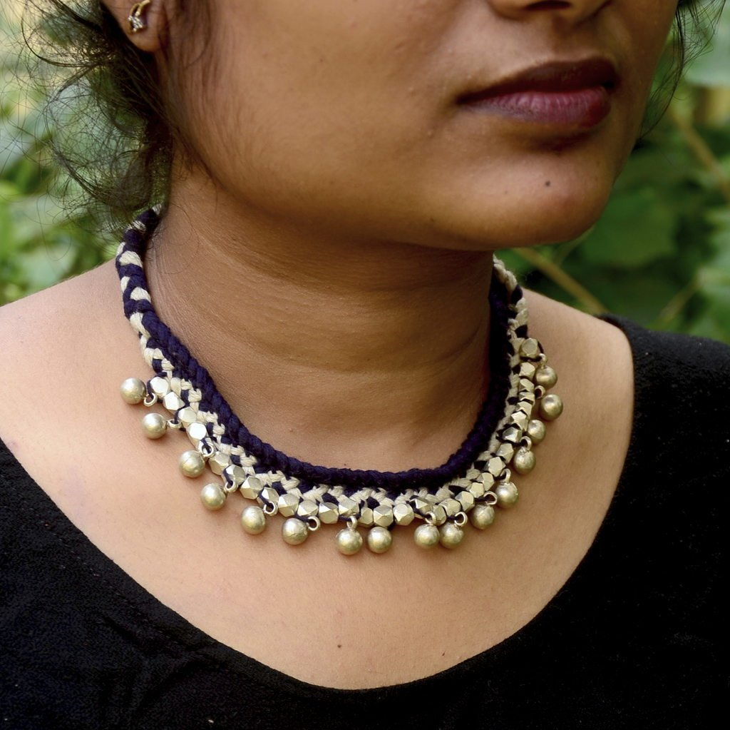 Blue Choker Dhokra Tribal Necklace