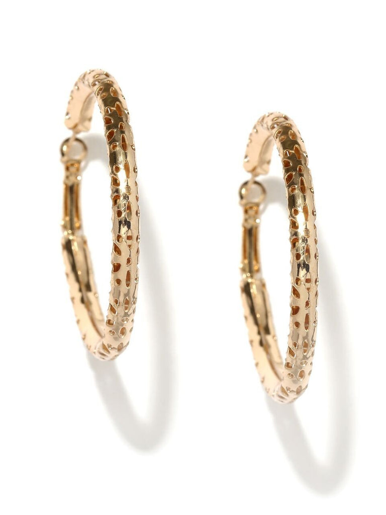 Cathrine Gold Textured Hoops