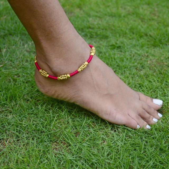 Dhokra Anklet Beads