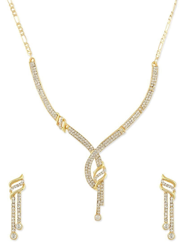 Zaveri Pearls Elegant Austrian Diamond Necklace