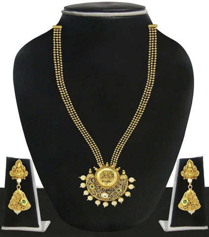 Zaveri Pearls Ethnic Temple Necklace Set