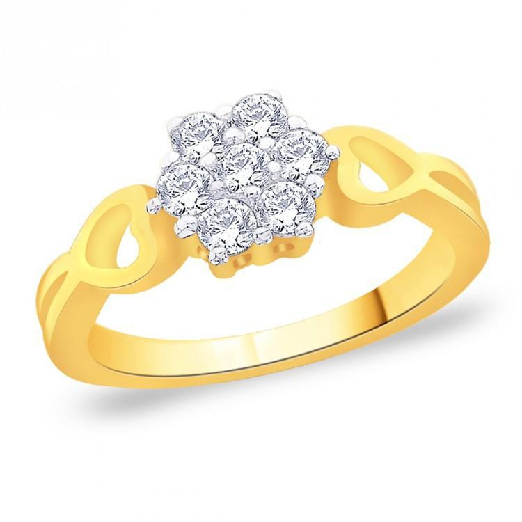 Golden Daffodil Ring For Party Wear