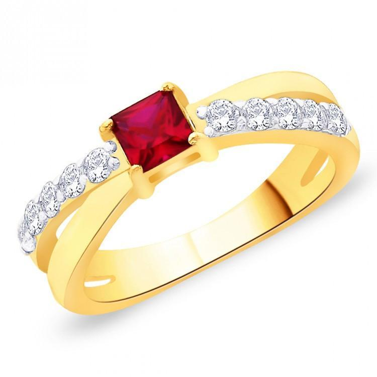 Empress Ruby Criss Cross Ring