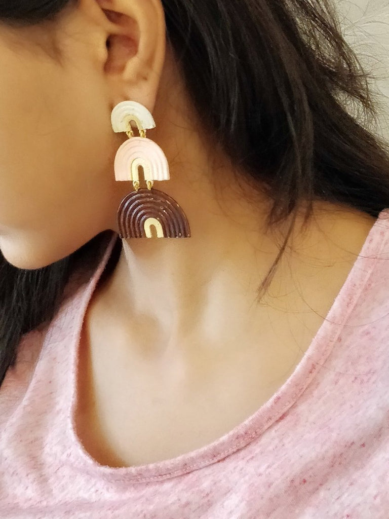 Layered Pink Earrings