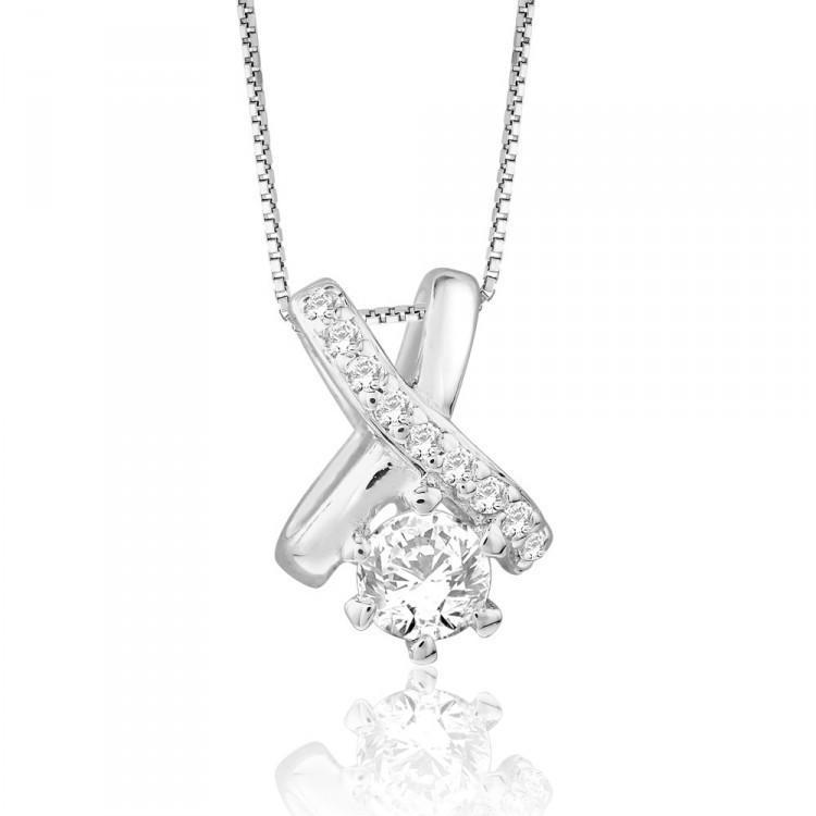 Graceful Criss Cross Pendant