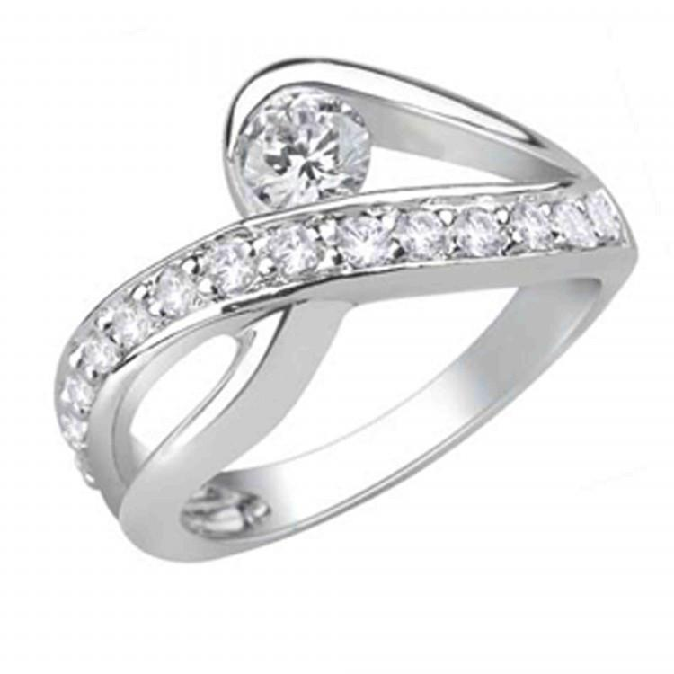 Stunning Crossover Ring For Party Wear