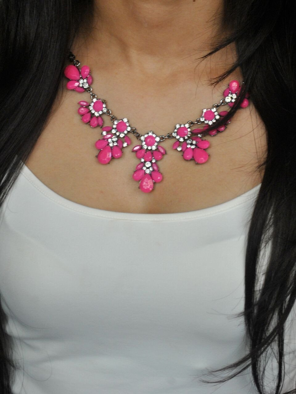 Summer Cocktail Pink Necklace