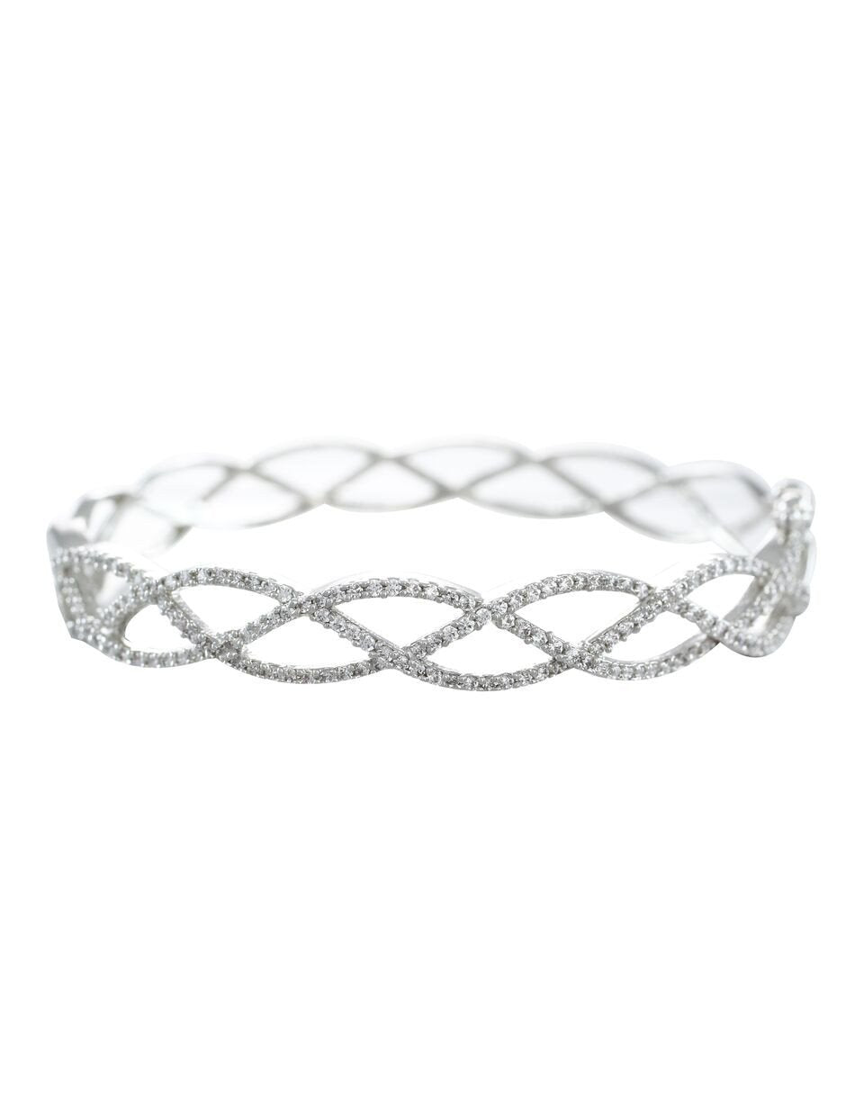 Deluxe Edition Rhodium Plated Bracelet By Zaveri Pearls