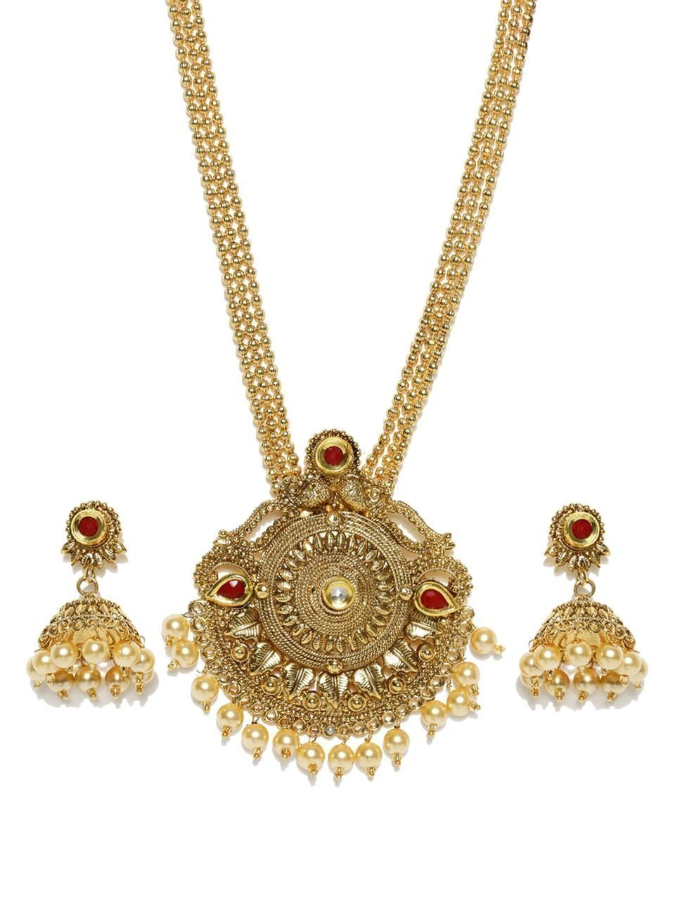 Zaveri Pearls Alluring Long Necklace Set