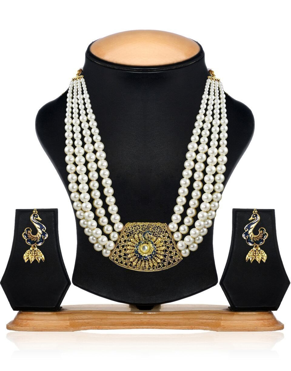 Royal Look Multistrand Pearl Necklace Set
