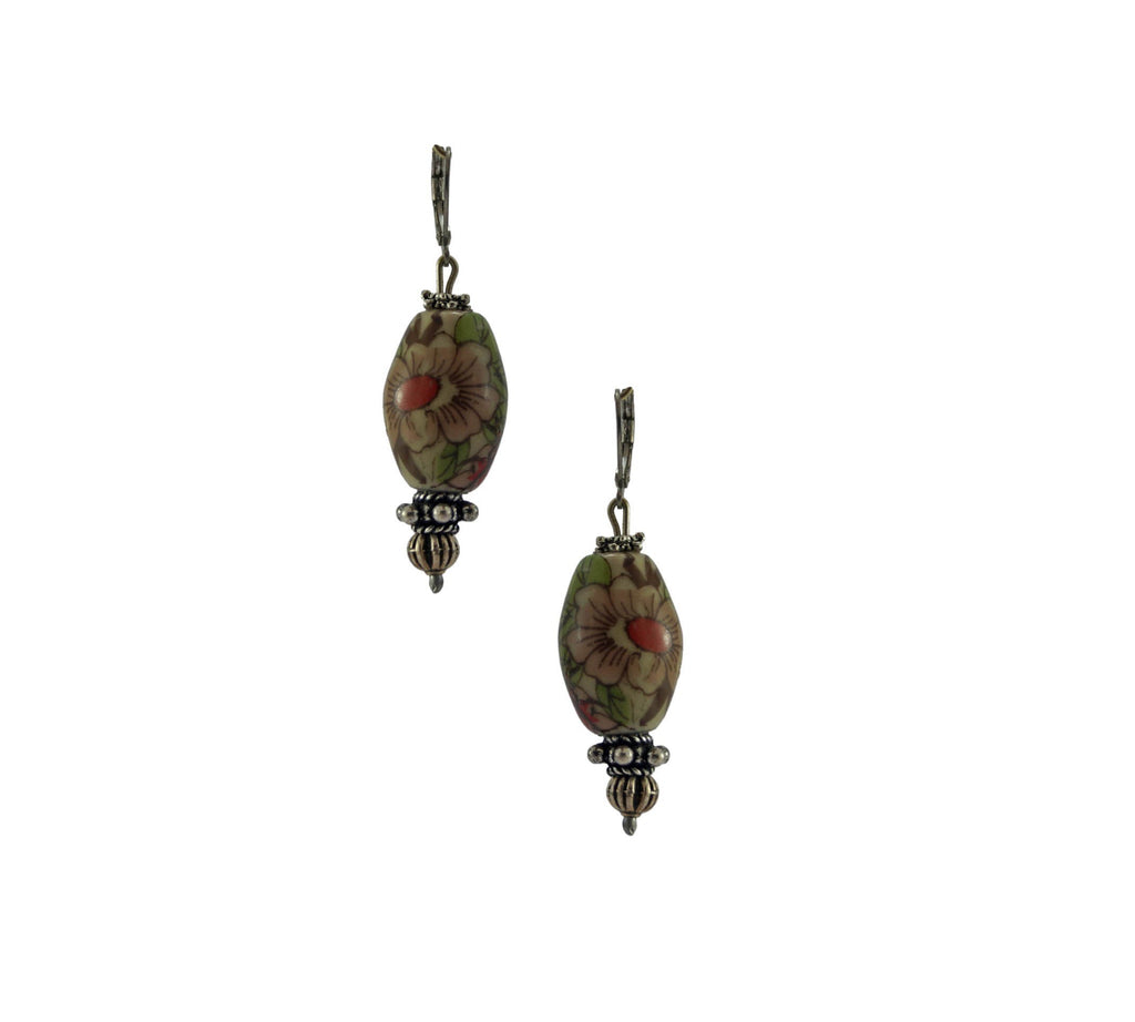 Olive Red Porcelain Dangler