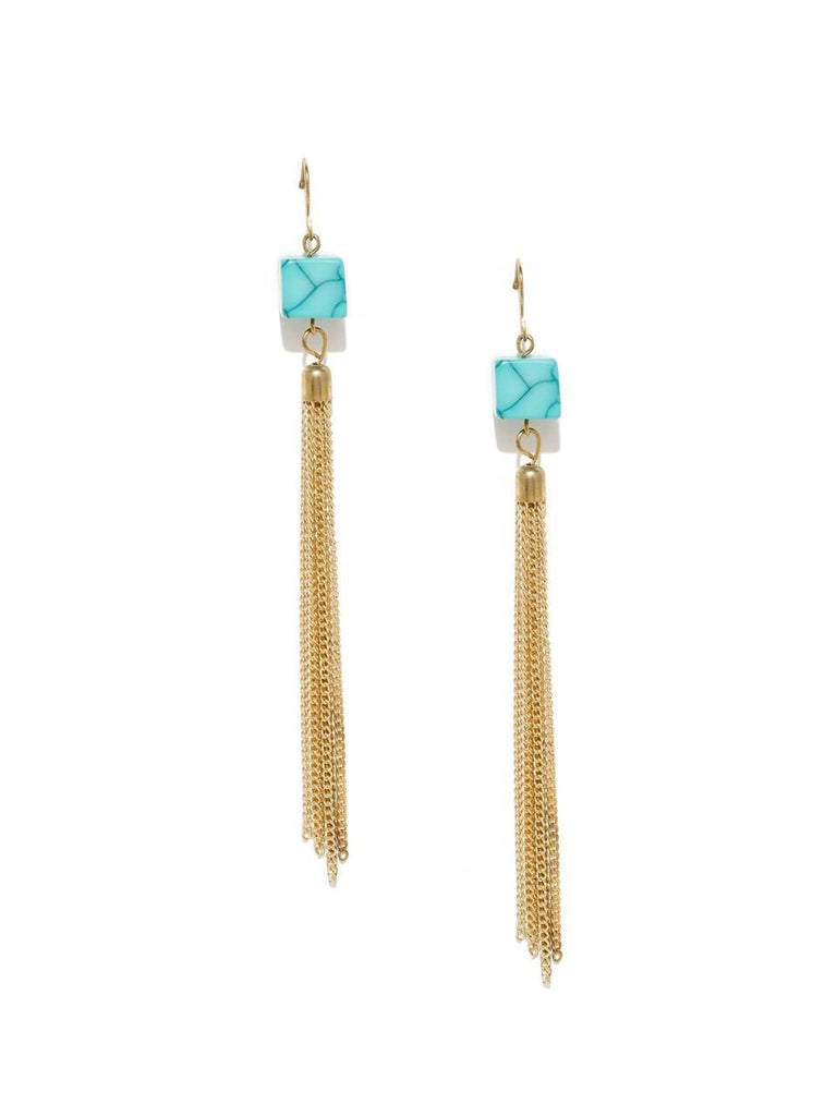 Turquoise Fringed Earrings