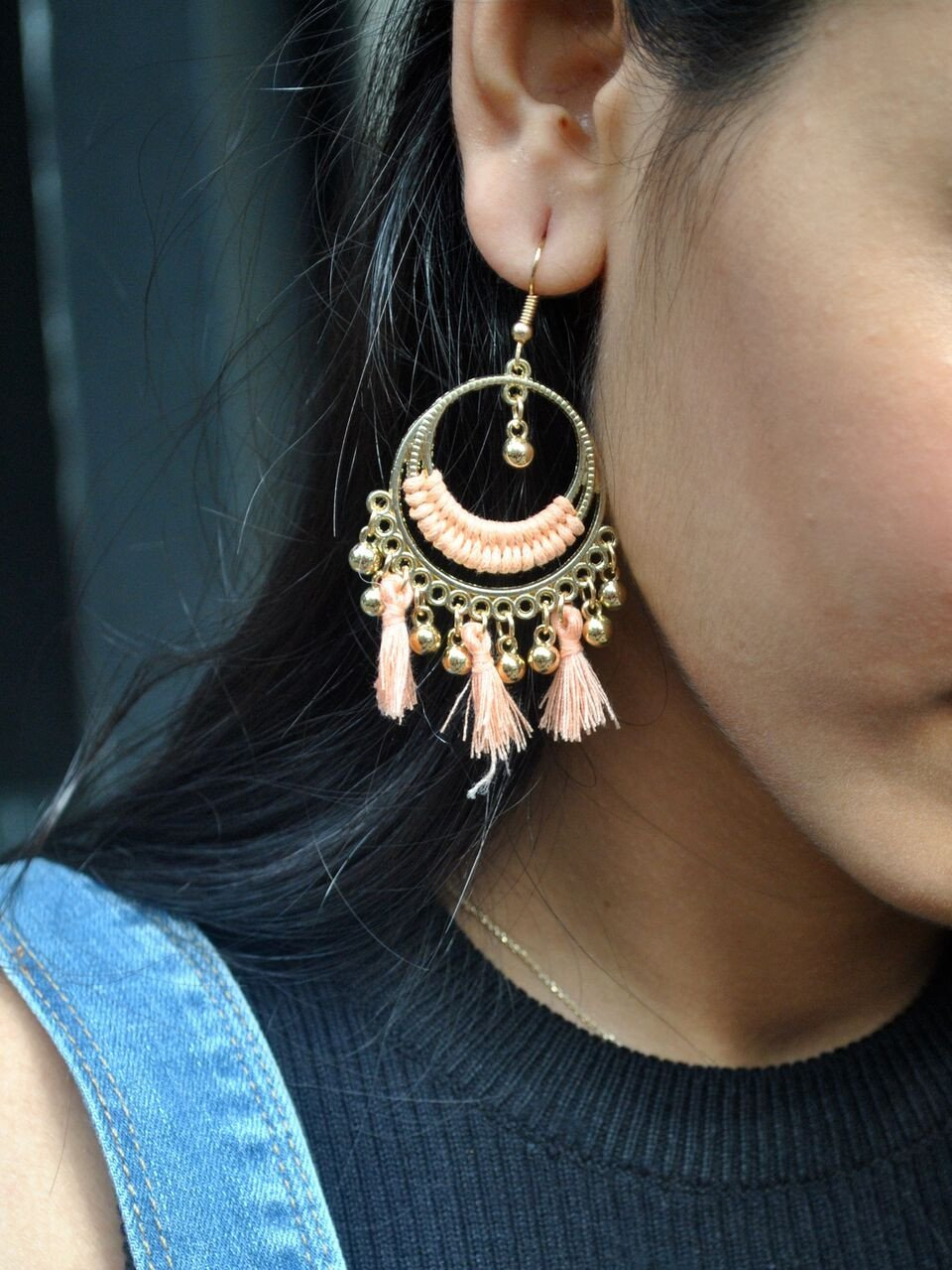 Peach Boho Earrings