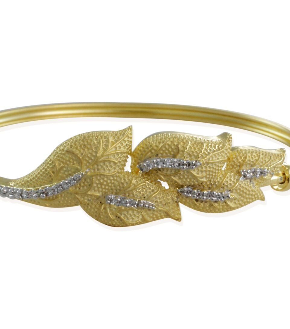 Limited Edition Adorable Matt Gold Tone With Cz Stones Bracelet By Zaveri Pearls