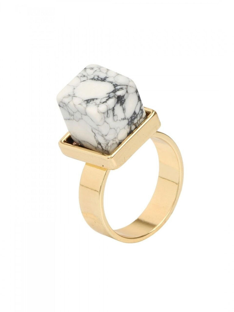 Marble Cube Ring