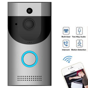 B30 Battery Powered WiFi Video Doorbell Waterproof Camera 720P Real Time Video Two Way Audio IR Camera
