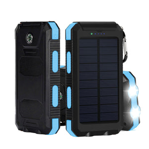Bakeey LED Flashight 10000mAh Dual USB Solar Energy DIY Power Bank Battery Case For Mobile Phone Tablet