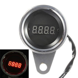 LED Motorcycle Digital Tachometer Tacho Speedometer RPM Gauge 2 Cylinder