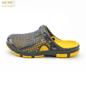 HEMU Men's Slippers Non-Slip Quick Drying Waterproof Deodorant Fashion Sports Casual Sandals